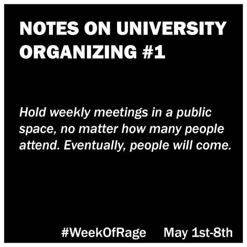 1 Notes on University Organizing