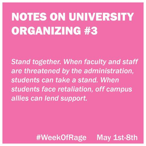 3 Notes on University Organizing
