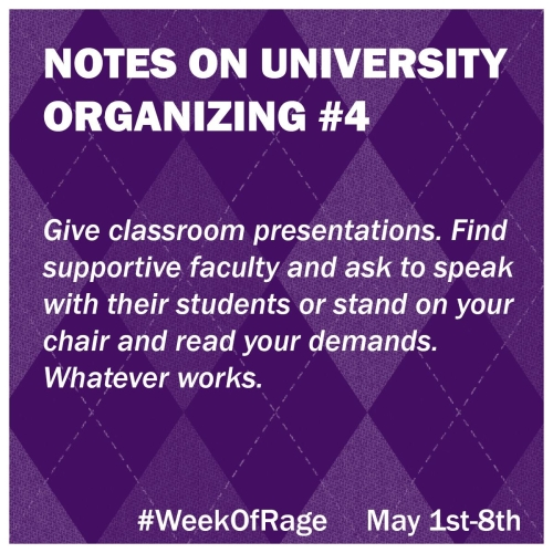4 Notes on University Organizing