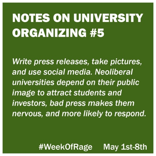 5 Notes on University Organizing